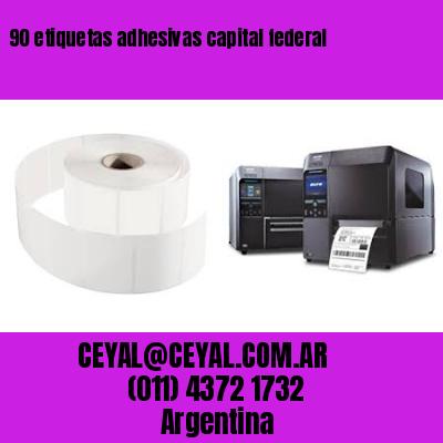 90 etiquetas adhesivas capital federal
