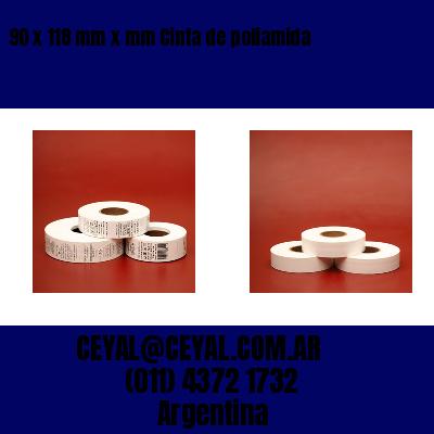 90 x 118 mm x mm Cinta de poliamida