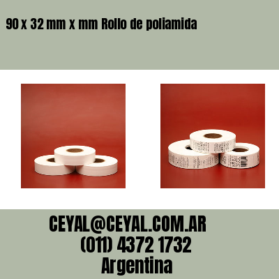 90 x 32 mm x mm Rollo de poliamida