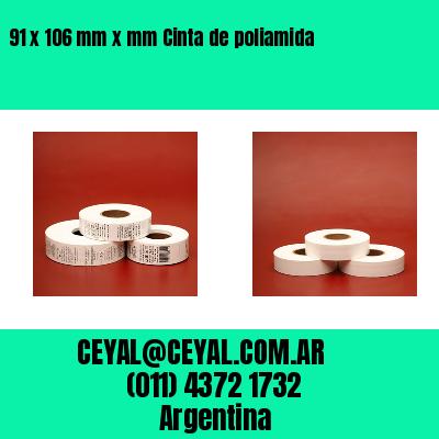91 x 106 mm x mm Cinta de poliamida