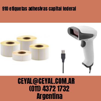 910 etiquetas adhesivas capital federal