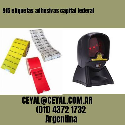 915 etiquetas adhesivas capital federal
