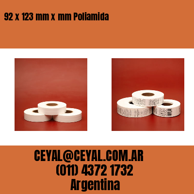 92 x 123 mm x mm Poliamida