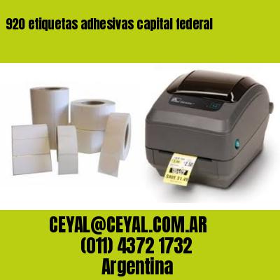 920 etiquetas adhesivas capital federal