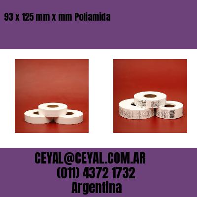 93 x 125 mm x mm Poliamida