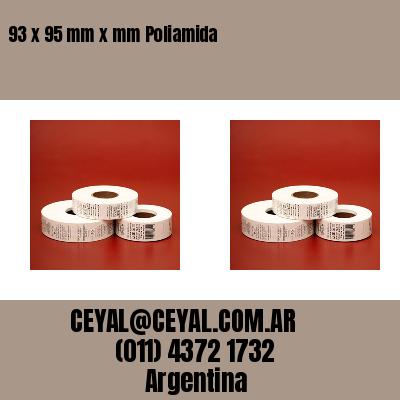 93 x 95 mm x mm Poliamida