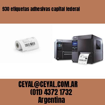 930 etiquetas adhesivas capital federal