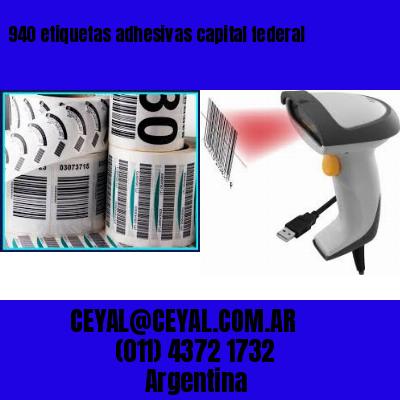 940 etiquetas adhesivas capital federal