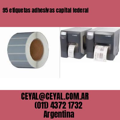 95 etiquetas adhesivas capital federal