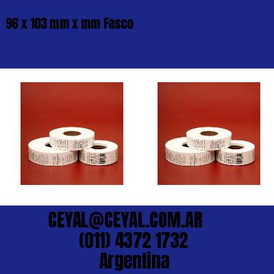 96 x 103 mm x mm Fasco