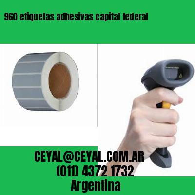 960 etiquetas adhesivas capital federal