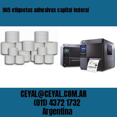 965 etiquetas adhesivas capital federal