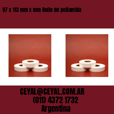 97 x 113 mm x mm Rollo de poliamida