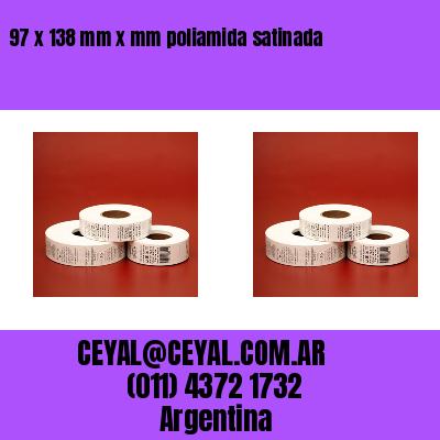 97 x 138 mm x mm poliamida satinada