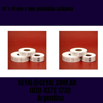 97 x 81 mm x mm poliamida satinada