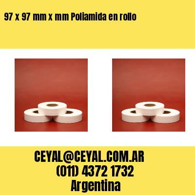 97 x 97 mm x mm Poliamida en rollo