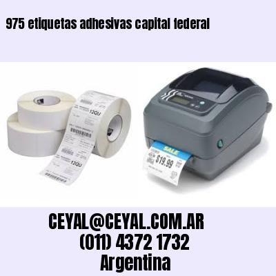 975 etiquetas adhesivas capital federal