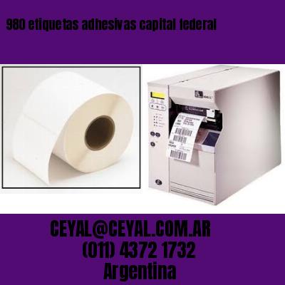 980 etiquetas adhesivas capital federal