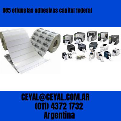 985 etiquetas adhesivas capital federal