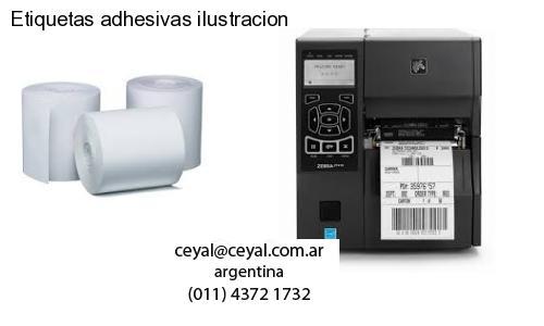 Etiquetas adhesivas ilustracion