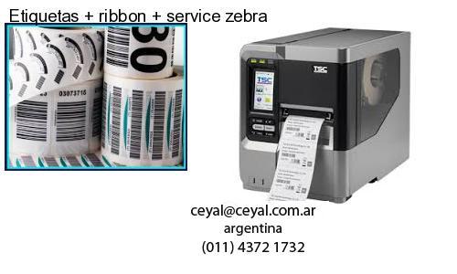 Etiquetas   ribbon   service zebra