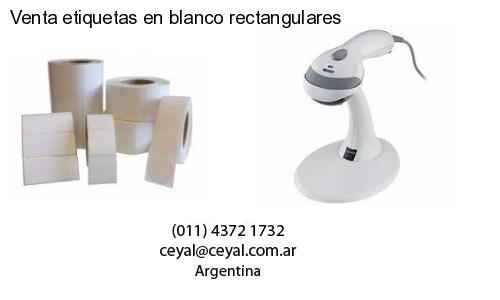 Venta etiquetas en blanco rectangulares