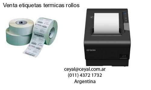 Venta etiquetas termicas rollos