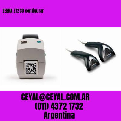 ZEBRA ZT230 configurar