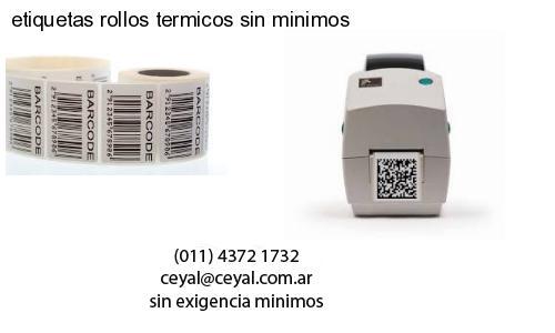 etiquetas rollos termicos sin minimos