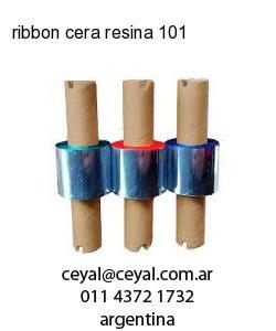 ribbon cera resina 101
