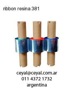 ribbon resina 381