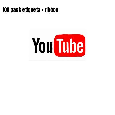 100 pack etiqueta   ribbon