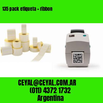 135 pack etiqueta   ribbon