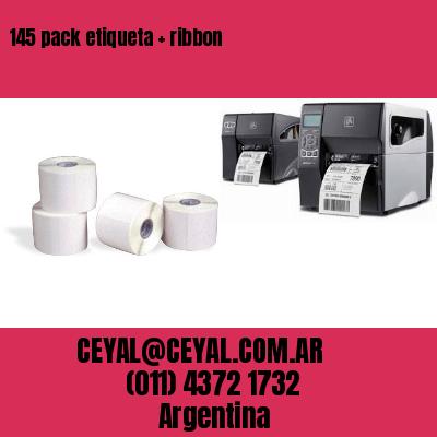 145 pack etiqueta   ribbon