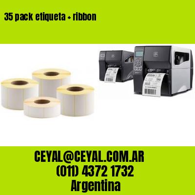 35 pack etiqueta   ribbon