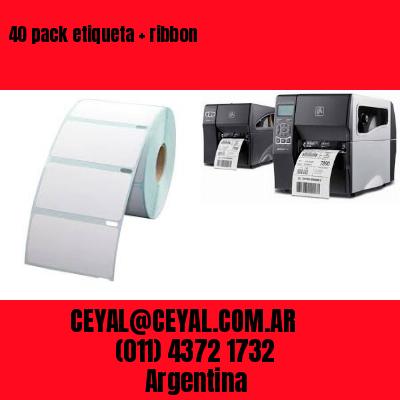 40 pack etiqueta   ribbon