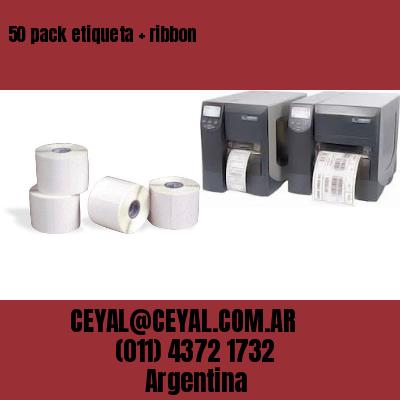 50 pack etiqueta   ribbon