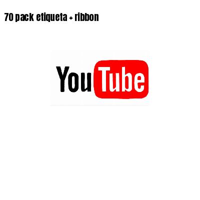 70 pack etiqueta   ribbon