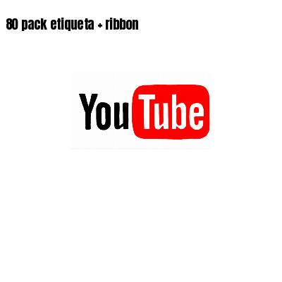 80 pack etiqueta   ribbon