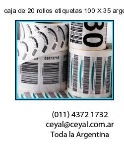 caja de 20 rollos etiquetas 100 X 35 argentina