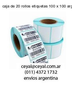 caja de 20 rollos etiquetas 100 x 100 argentina