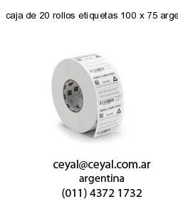 caja de 20 rollos etiquetas 100 x 75 argentina