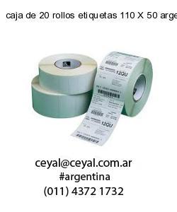caja de 20 rollos etiquetas 110 X 50 argentina