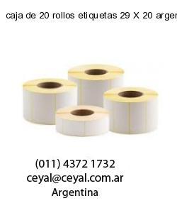 caja de 20 rollos etiquetas 29 X 20 argentina