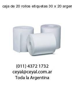 caja de 20 rollos etiquetas 30 x 20 argentina