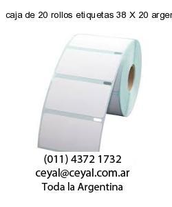 caja de 20 rollos etiquetas 38 X 20 argentina