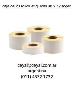 caja de 20 rollos etiquetas 38 x 12 argentina