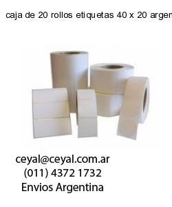 caja de 20 rollos etiquetas 40 x 20 argentina
