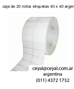 caja de 20 rollos etiquetas 40 x 40 argentina