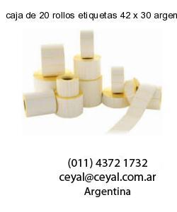 caja de 20 rollos etiquetas 42 x 30 argentina